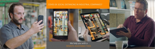 Social distancing in industrial companies? SpiraTec helps you with a remote assistance tool